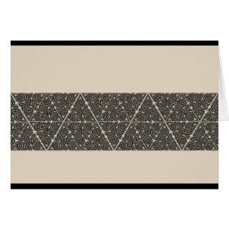 Blackwork Triangle Knot Band Card