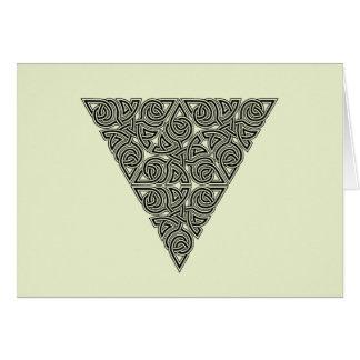 Blackwork Triangle Knot Card