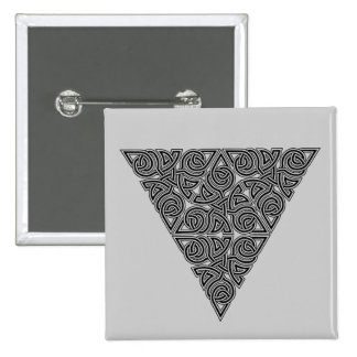 Blackwork Triangle Knot Square Button