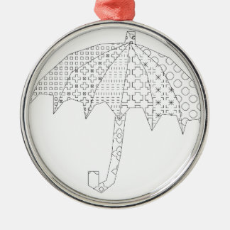 blackwork umbrella metal ornament