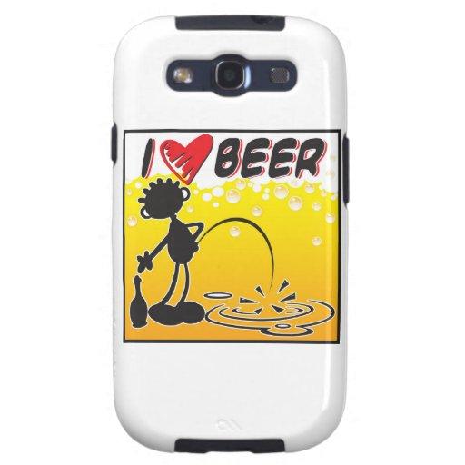 Blacky I Love Beer Samsung Galaxy SIII Case