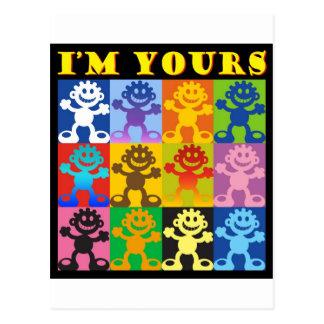 Blacky I'm Yours Postcard