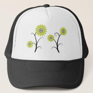 blackyellowsfloral trucker hat