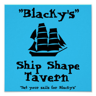 """Blacky's"" Poster"