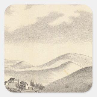 Blacow farm, Mission Peak Square Stickers