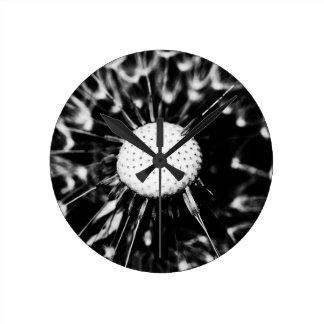 blacq del diente de león reloj redondo mediano