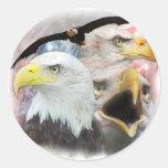 Blad Eagles Pegatinas Redondas