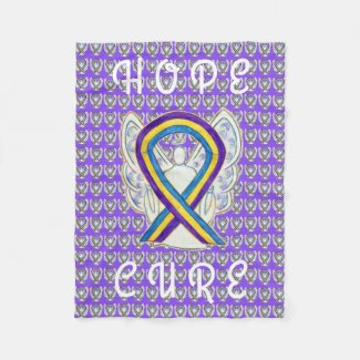 Bladde Cancer Awareness Ribbon Soft Chemo Blankets