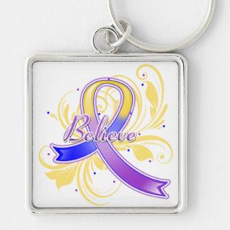 Bladder Believe Flourish Ribbon Keychain