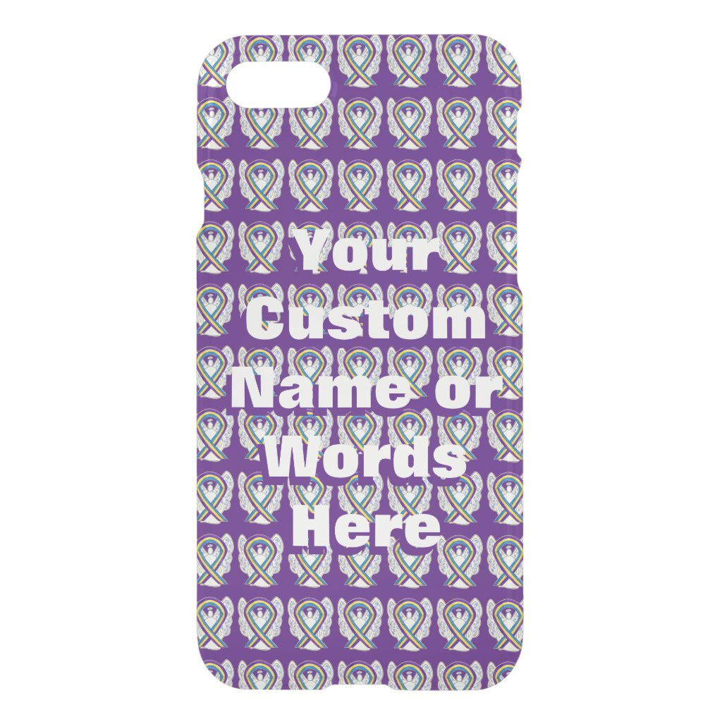 Bladder Cancer Angel Awareness Ribbon iPhone Cases