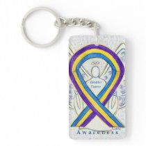 Bladder Cancer Angel Awareness Ribbon Keychain