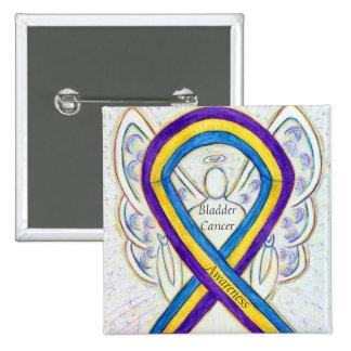 Bladder Cancer Angel Awareness Ribbon Pins