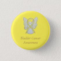 Bladder Cancer Angel Yellow Awareness Ribbon Pins