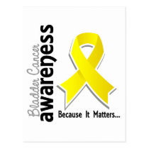 Bladder Cancer Awareness 5 Postcard