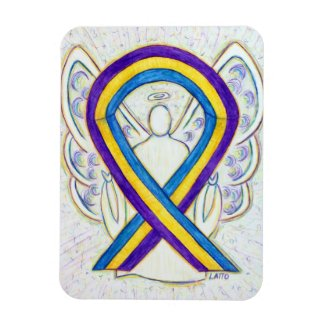 Bladder Cancer Awareness Angel Ribbon Gift Magnet