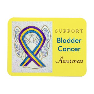 Bladder Cancer Awareness Angel Ribbon Magnet Gifts