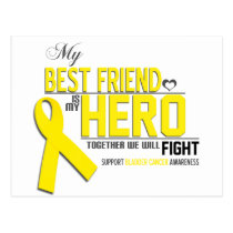 Bladder Cancer Awareness: best friend Postcard