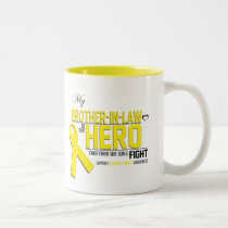 Bladder Cancer Awareness: brother in law Two-Tone Coffee Mug