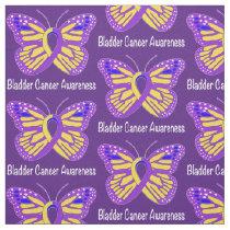Bladder Cancer Awareness Butterfly Fabric