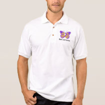 Bladder Cancer Awareness Butterfly Polo Shirt