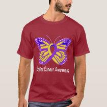 Bladder Cancer Awareness Butterfly T-Shirt