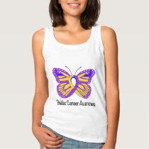 Bladder Cancer Awareness Butterfly Tank Top