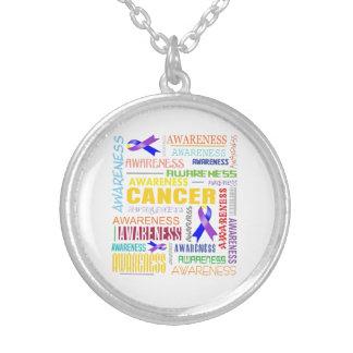 Bladder Cancer Awareness Collage Pendants
