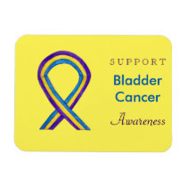 Bladder Cancer Awareness Custom Ribbon Magnet Gift