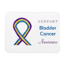 Bladder Cancer Awareness Custom Ribbon Magnet Gift