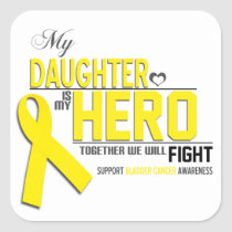 Bladder  Cancer Awareness: daughter Square Sticker
