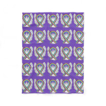 Bladder Cancer Awareness Ribbon Angel Blankets