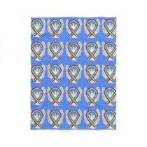 Bladder Cancer Awareness Ribbon Angel Blankets