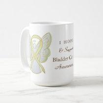 Bladder Cancer Awareness Ribbon Angel Custom Mug