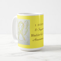 Bladder Cancer Awareness Ribbon Angel Custom Mug