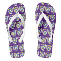 Bladder Cancer Awareness Ribbon Angel Flip Flops