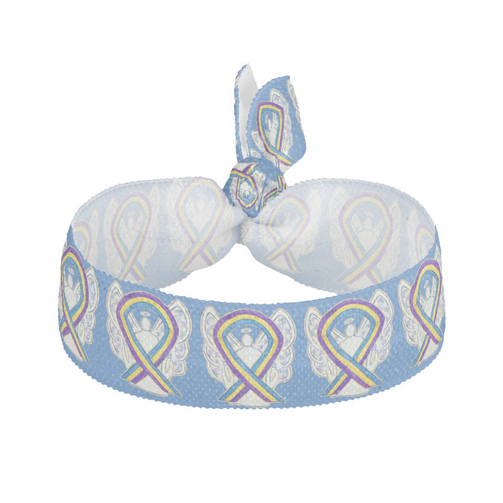 Bladder Cancer Awareness Ribbon Angel Hair Ties