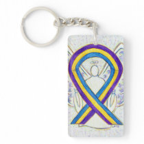 Bladder Cancer Awareness Ribbon Angel Key chain