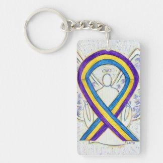 Bladder Cancer Awareness Ribbon Angel Key chain