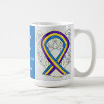 Bladder Cancer Awareness Ribbon Angel Mug