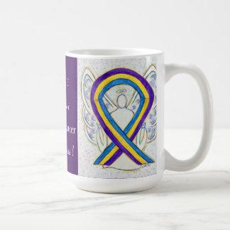 Bladder Cancer Awareness Ribbon Angel Mug