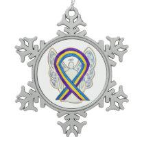 Bladder Cancer Awareness Ribbon Angel Ornament