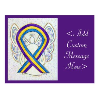 Bladder Cancer Awareness Ribbon Angel Postcard