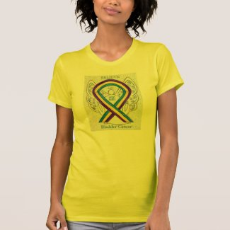 Bladder Cancer Awareness Ribbon Angel Shirt