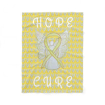 Bladder Cancer Awareness Ribbon Angel Soft Blanket
