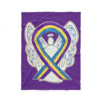 Bladder Cancer Awareness Ribbon Angel Soft Blanket