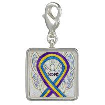 Bladder Cancer Awareness Ribbon Art Bracelet Charm