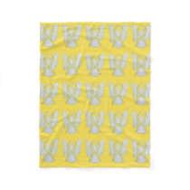 Bladder Cancer Awareness Ribbon Art Fleece Blanket