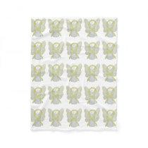 Bladder Cancer Awareness Ribbon Art Fleece Blanket