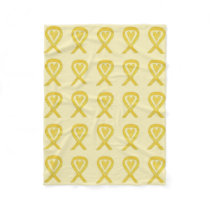 Bladder Cancer Awareness Ribbon Art Soft Blankets