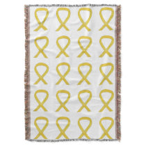 Bladder Cancer Awareness Ribbon Art Throw Blanket